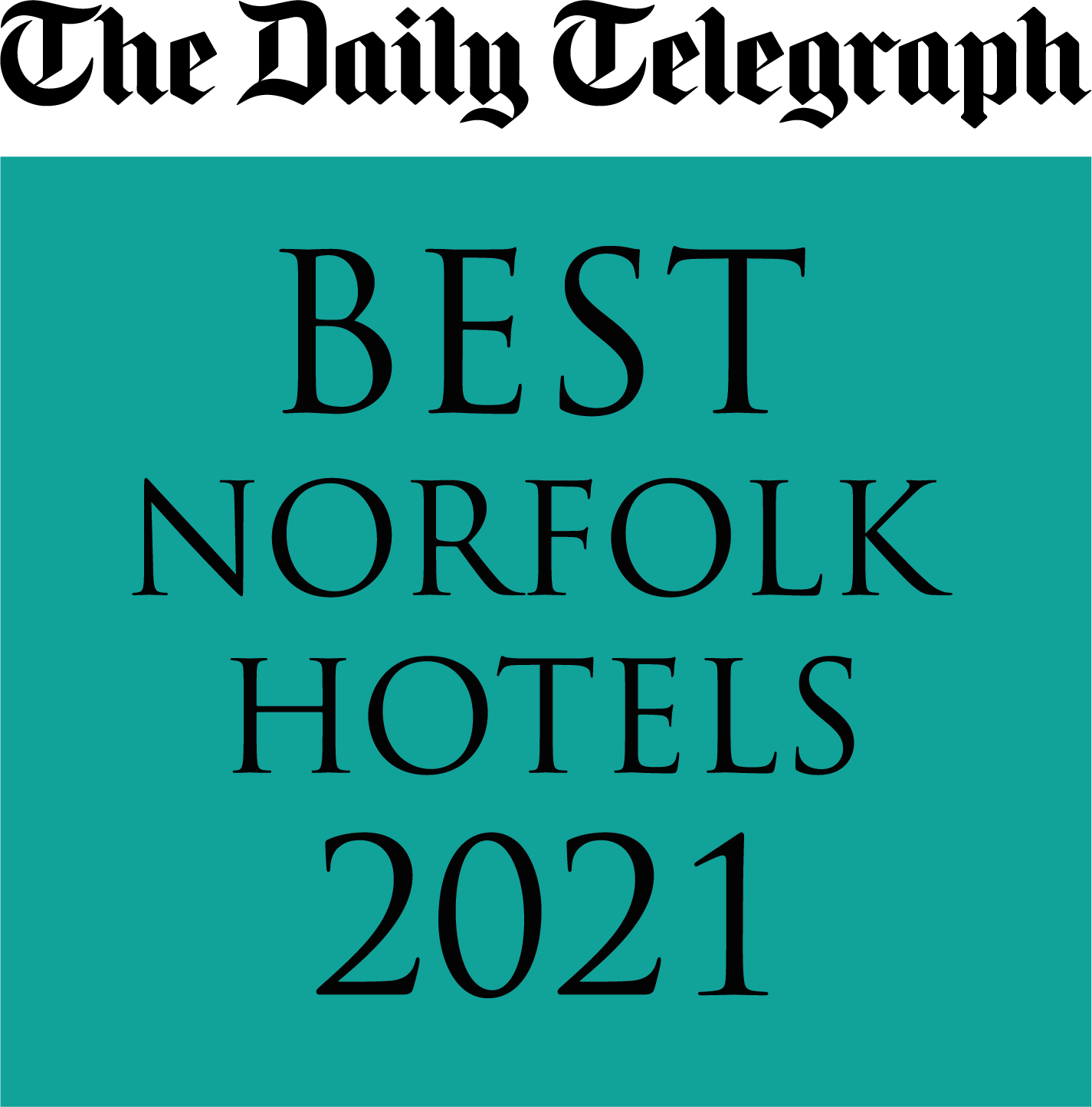 Daily Telegraph Norfolk Best Hotels 2021